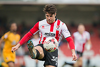 Dan Holman of Cheltenham Town during the Sky Bet League 2 match between Cheltenham Town and Cambridge United at the LCI Stadium, Cheltenham, England on 18 March 2017. Photo by Mark  Hawkins / PRiME Media Images.