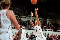 STANFORD, CA--Amber Orrange scores during PAC-12 conference play against Utah  at Maples Pavilion. The Cardinal won the matchup against the Utes 69-42.