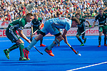 Krefeld, Germany, May 18: During the Final4 semi-final fieldhockey match between Mannheimer HC and Duesseldorfer HC on May 18, 2019 at Gerd-Wellen Hockeyanlage in Krefeld, Germany. (worldsportpics Copyright Dirk Markgraf) *** Max Kapaun #10 of UHC Hamburg