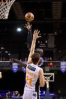 Saints&rsquo; Majok Majok in action during the NBL - Wellington Saints v Hawkes Bay Hawks  at TSB Bank Arena, Wellington, New Zealand on Friday 11 May 2018.<br /> Photo by Masanori Udagawa. <br /> www.photowellington.photoshelter.com