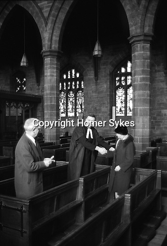 Henry Travice Charity, Maundy Thursday, St Mary the Virgin Church, Leigh Manchester, Lancashire England 1973.<br />
