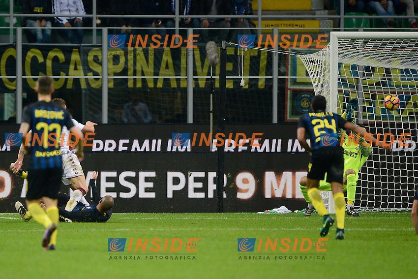 Gol di Andrea Belotti Torino 1-1. CElebration goal<br /> Milano 26-10-2016 Stadio Giuseppe Meazza - Football Calcio Serie A Inter - Torino. Foto Giuseppe Celeste / Insidefoto
