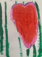 """""""Heart"""" Painting by Anders Jones, Grade 1, Yarmouth, ME, USA"""