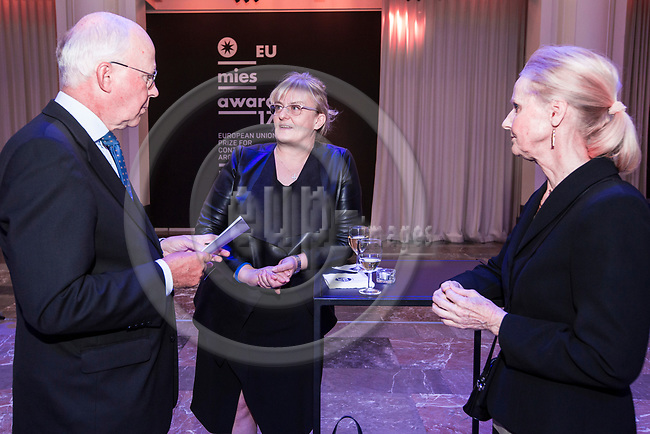 BRUSSELS - BELGIUM - 27 September 2017 -- Finland 100th Anniversary Reception and Concert of the Philharmonia Orchestra of London at the BOZAR. -- Mr. & Mrs. Jan Store, Managing Director of Milton Brussels with Pirkko Mattila (ce), Minister of Social Affairs and Health of Finland. -- PHOTO: Juha ROININEN / EUP-IMAGES