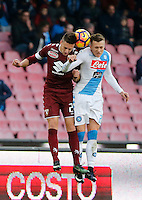 Antonio Barreca  and Piotr Zielinski  during the  italian serie a soccer match,between SSC Napoli and Torino       at  the San  Paolo   stadium in Naples  Italy , December 18, 2016