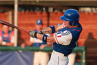 27 july 2010: Left fielder Joris Bert of France is seen at bat during Germany 10-9 victory over France, in day 5 of the 2010 European Championship Seniors, in Stuttgart, Germany.
