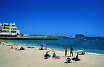 The beach, Corralejo, Fuerteventura, Canary Islands.