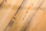 Close up of reclaimed wood floors