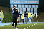 18 October 2013: UNC head coach Carlos Somoano. The University of North Carolina Tar Heels hosted the Syracuse University Orangemen at Fetzer Field in Chapel Hill, NC in a 2013 NCAA Division I Men's Soccer match. UNC won the game 1-0.