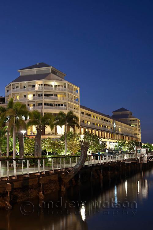 The Shangri-La Hotel at Marlin Marina.  Cairns, Queensland, Australia