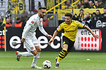 11.05.2019, Signal Iduna Park, Dortmund, GER, DFL, 1. BL, Borussia Dortmund vs Fortuna Duesseldorf, DFL regulations prohibit any use of photographs as image sequences and/or quasi-video<br /> <br /> im Bild v. li. im Zweikampf Kenan Karaman (#11, Fortuna Duesseldorf) Jadon Sancho (#7, Borussia Dortmund) <br /> <br /> Foto &copy; nordphoto/Mauelshagen