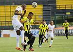 Alianza Petrolera venció por la mínima diferencia, 1 - 0 al Águilas Pereira en compromiso de la tercera fecha que se jugó en el estadio Álvaro Gómez Hurtado de Floridablanca.