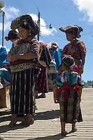 Two Mayan women and a small girl on their way to the market in Chajul.