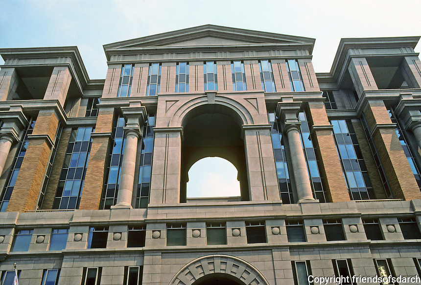 Washington D.C. : New Building on 6th & E St. NW. Photo '91.