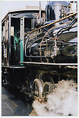 Detail shot of engineer's side cab front area of RGS #41.<br /> RGS  Buena Park, CA  Taken by Dorman, Richard L. - 2/15/2002