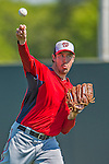 7 March 2013: Washington Nationals pitcher Ross Ohlendorf warms up prior to a Spring Training game against the Houston Astros at Osceola County Stadium in Kissimmee, Florida. The Astros defeated the Nationals 4-2 in Grapefruit League play. Mandatory Credit: Ed Wolfstein Photo *** RAW (NEF) Image File Available ***