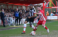 Dominic Vose of Grimsby Town and Jordan Clark of Accrington Stanley in midfield <br /> during the Sky Bet League 2 match between Accrington Stanley and Grimsby Town at the Fraser Eagle Stadium, Accrington, England on 25 March 2017. Photo by Tony  KIPAX / PRiME Media Images.