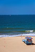 Ocean Waves, Manhattan beach, CA, Multicolored, Lifegard Station