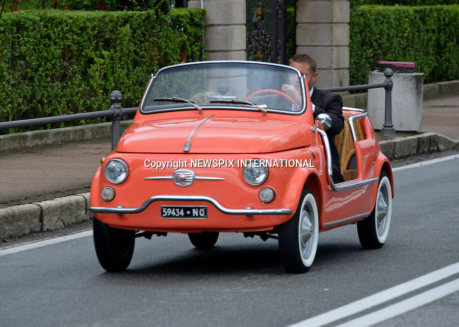 01.08.2015; Stresa, Italy: LAPO ELKANN<br /> arrives in a baby fiat to the wedding of Pierre Casiraghi and Beatrice Borromeo.<br /> Mandatory Credit Photo: &copy;NEWSPIX INTERNATIONAL<br /> <br /> **ALL FEES PAYABLE TO: &quot;NEWSPIX INTERNATIONAL&quot;**<br /> <br /> PHOTO CREDIT MANDATORY!!: NEWSPIX INTERNATIONAL(Failure to credit will incur a surcharge of 100% of reproduction fees)<br /> <br /> IMMEDIATE CONFIRMATION OF USAGE REQUIRED:<br /> Newspix International, 31 Chinnery Hill, Bishop's Stortford, ENGLAND CM23 3PS<br /> Tel:+441279 324672  ; Fax: +441279656877<br /> Mobile:  0777568 1153<br /> e-mail: info@newspixinternational.co.uk