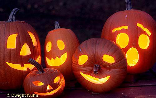 HS24-328z  Pumpkin - jack-o-lanterns lit
