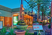 The Gardens, El Paseo Drive, Palm Desert, CA, Boutiques; famous; retailers; fashion; haute couture, Restaurants, ; shopping; Mannequins; near Palm Springs; Palm Trees; California; Coachella Valley; Desert; High dynamic range imaging (HDRI or HDR)