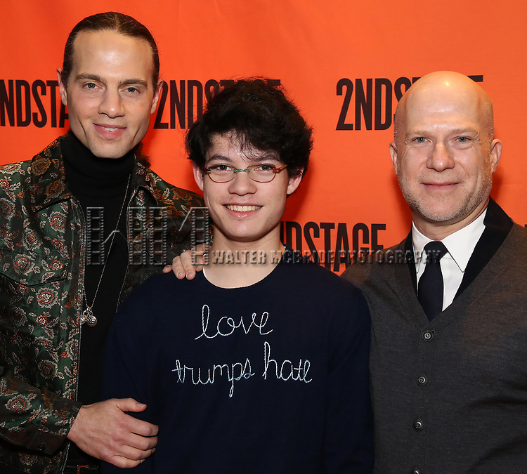 Jordan Roth, Jackson Foo Wong and Richie Jackson attends the Off-Broadway Opening Night performance of the Second Stage Production on 'Torch Song'  on October 19, 2017 at Tony Kiser Theater in New York City.