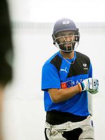 Picture by Allan McKenzie/SWpix.com - 05/04/2018 - Cricket - Yorkshire County Cricket Club Training - Headingley Cricket Ground, Leeds, England - Cheteshwar Pujara netting.