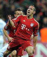 FUSSBALL   CHAMPIONS LEAGUE  VIERTELFINAL RUECKSPIEL   2011/2012      FC Bayern Muenchen - Olympic Marseille          03.04.2012 JUBEL nach dem Tor zum 1:0 Franck Ribery (FC Bayern Muenchen)