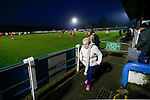 Stocksbridge fans start to leave as the game winds down. Stocksbridge Park Steels v Pickering Town, Evo-Stik East Division, 17th November 2018. Stocksbridge Park Steels were born from the works team of the local British Steel plant that dominates the town north of Sheffield.<br />