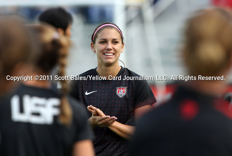 18 May 2011: Alex Morgan (USA). The United States Women's National Team defeated the Japan Women's National Team 2-0 at WakeMed Stadium in Cary, North Carolina as part of preparations for the 2011 Women's World Cup.