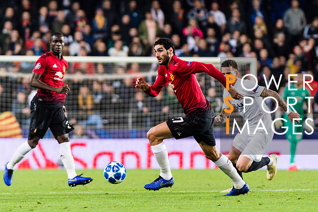 Marouane Fellaini of Manchester United in action during the UEFA Champions League 2018-19 match between Valencia CF and Manchester United at Estadio de Mestalla on December 12 2018 in Valencia, Spain. Photo by Maria Jose Segovia Carmona / Power Sport Images
