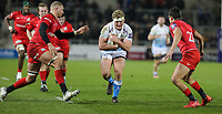 7th February 2020; AJ Bell Stadium, Salford, Lancashire, England; Premiership Cup Rugby, Sale Sharks versus Saracens;  Ross Harrison of Sale Sharks runs at the Saracens defence