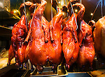 California, San Francisco: Roast ducks hanging in Yee's Restaurant on Grant Street in Chinatown..Photo #: 1-casanf77634.Photo © Lee Foster 2008