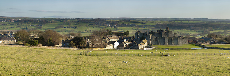 Middleham Castle in the Yorkshire Dales, Uk
