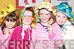 Bonnets: Katie Thornton, Corrine Gibbons, Megan Ahern and Laura Curry taking .part in the Easter bonnet competition at the Family Fun Day at the Con .Colbert Memorial Hall in Athea on Monday.   Copyright Kerry's Eye 2008