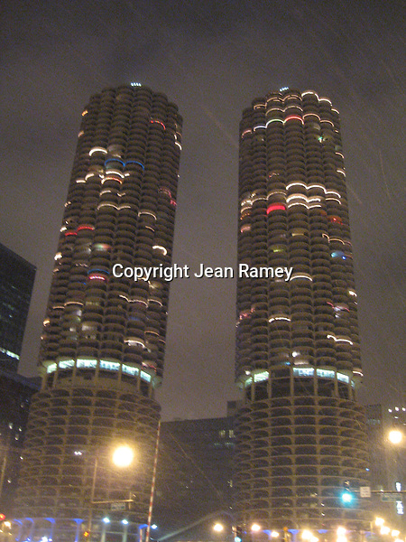 Marina Towers dressed for the holidays