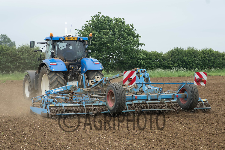 Contractors working land down before drilling grass seed<br /> &copy;Tim Scrivener Photographer 07850 303986<br /> ....Covering Agriculture In The UK....