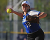 Heather Berberich #12, Calhoun shortstop, throws to first base for an out during the Nassau County varsity softball Class AA semifinals against Farmingdale at Calhoun High School on Monday, May 14, 2018. Calhoun took Game 1 of the best-of-three playoff series with a 4-2 win.