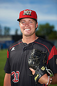 Batavia Muckdogs relief pitcher Brent Wheatley (30) poses for a photo before a game against the West Virginia Black Bears on June 30, 2016 at Dwyer Stadium in Batavia, New York.  Batavia defeated West Virginia 4-3.  (Mike Janes/Four Seam Images)