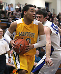 High school basketball action between Carson and Manogue in Carson City, Nev., on Tuesday, Feb. 7, 2012. Carson won 73-70 in overtime..Photo by Cathleen Allison