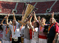 July 24, 2005: East Rutherford, NJ, USA:  The USMNT celebrates after winning the CONCACAF Gold Cup at Giants Stadium by defeating Panama on penalty kicks.