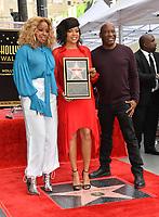 LOS ANGELES, CA. January 28, 2019: Mary J. Blige, Taraji P. Henson & John Singleton at the Hollywood Walk of Fame Star Ceremony honoring Taraji P. Henson.<br /> Pictures: Paul Smith/Featureflash