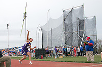Brentwood High School junior Sophia Rivera prepares to throw the javelin on her way to victory with a 162-9 mark that puts her third nationally, at the 2015 Kansas Relays, Friday, April 17, in Lawrence, Ks.