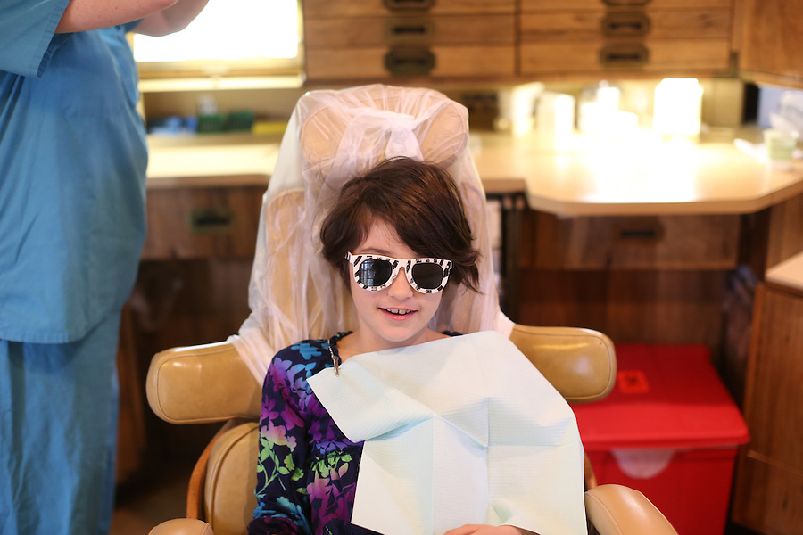 Ava at dentist in Charlottesville, Va. Photo/Andrew Shurtleff