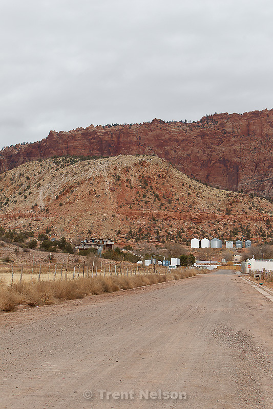 view looking north toward warren jeffs home, el capitan, Friday November 30, 2012.
