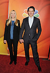 PASADENA, CA - JANUARY 16: Actors Hope Davis (L) and Scott Cohen attend the NBCUniversal 2015 Press Tour at the Langham Huntington Hotel on January 16, 2015 in Pasadena, California.