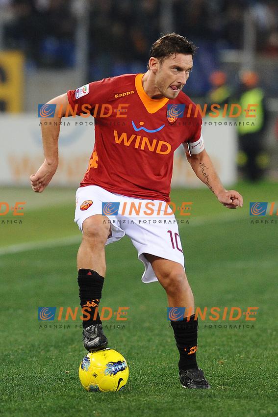Francesco Totti (Roma).Roma, 21/01/2012 Stadio Olimpico.Football Calcio 2011/2012 .Roma vs Cesena.Campionato di calcio Serie A.Foto Insidefoto Antonietta Baldassarre