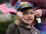 Maximus Chaguya, 4, and his family were among the nearly 100 people participating in the third annual Veterans Suicide Awareness March in Carson City, Nev., on Saturday, May 6, 2017. The event, put on by  Western Nevada College Student Veterans Club and the Veterans Resource Center, raises awareness of the more than 8,000 veteran suicides each year in the U.S.<br />Photo by Cathleen Allison/Nevada Photo Source