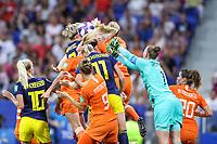 Lyon (França) 03/07/2019 - Copa do Mundo de Futebol Feminino - Holanda x Suécia -  Van Veendaal goleira da Holanda durante partida contra Suecia valido pelas semi-finais da Copa do Mundo de Futebol Feminino na cidade de Lyon na França nesta quarta-feira, 03. <br /> (Foto: Vanessa Carvalho/Brazil Photo Press)