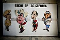 "Havana, 01 de Junho de 2011..Batista, Reagan, Bush pai e Bush filho no ""Canto dos Cretinos"" no Museu de La Revolucion...Batista, Reagan, Bush padre y Bush hijo en el ""Rincon de los cretinos"" en el Museo de La Revolución...Foto: LEO DRUMOND / NITRO"